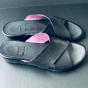 FITFLOP 💜 Leather Comfort Sandals Size 8